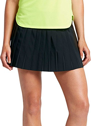 (Nike Womens Court Victory Tennis Skirt Black/White 728773-010 Size X-Small)