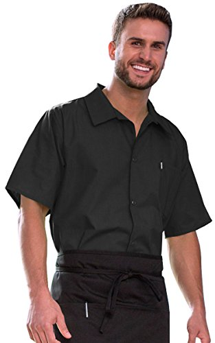 (Uncommon Threads Unisex-Adult's Plus Size Utility Shirt 5 Button Black)