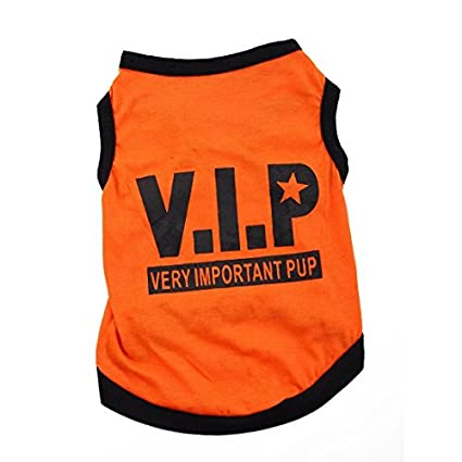 eDealMax VIP impresión, perrito del Traje de la capa del Verano, ropa Para mascotas