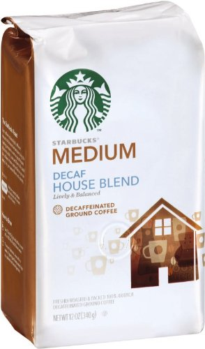 (Starbucks Decaf House Blend Ground Coffee, 12 Ounce (Pack of 3))
