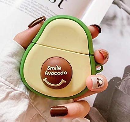 Para Airpods 1 y 2 Estuche AirPods Apple con la caja Auricular Bluetooth aguacate dibujos animados (Color : Green): Amazon.es: Coche y moto