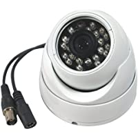 Amview 1300TVL Sony CMOS CCD Aluminum 3.6mm 24IR Dome Security Surveillance Camera