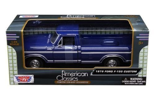 Motormax American Classics 1979 Ford F150 Pickup Truck 1/24 Scale Diecast Model Car Blue