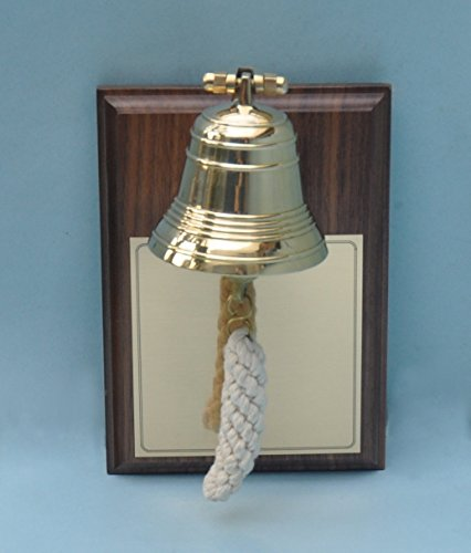 Engraved Bell - Engraved Miniature Bell Plaque on Walnut Base