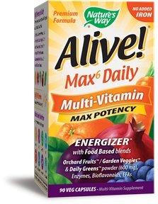(Natures Way, Multivitamin Iron Free Alive, 90 Veg Capsules)
