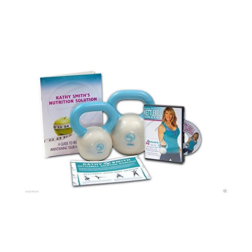 Kathy Smith Advanced Kettlebell Solution Includes 10-Pound and 15-Pound Kettlebells