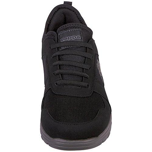 Kappa Herren Kato Sneaker Schwarz (1116 Black/Grey)