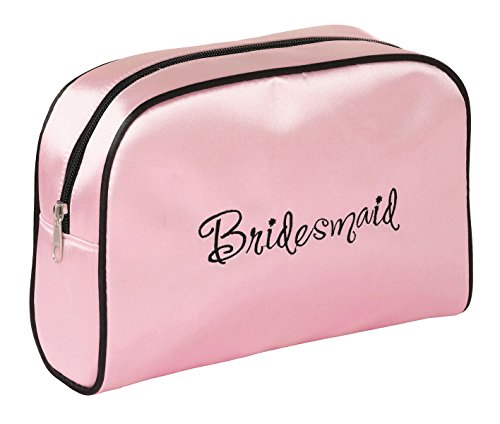 Lillian Rose Pink Bridesmaid Travel Accessory Makeup Bag Gift