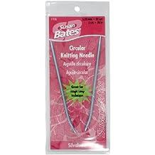 Susan Bates 36-Inch Silvalume Circular Knitting Needle, 3.25mm