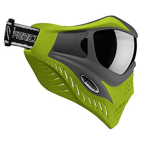 V-Force Grill Thermal Paintball Mask / Goggle - Special Color - Grey on Lime (Grey Thermal Paintball)