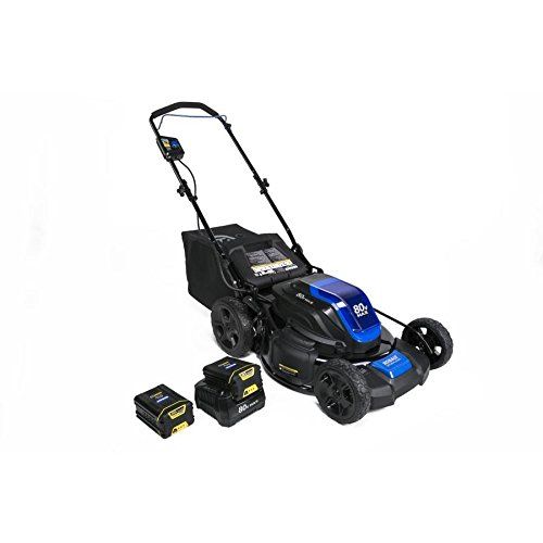 Kobalt 80-Volt Max Brushless Lithium Ion 21-in Deck Width Cordless Electric Lawn Mower with Mulching Capability Batteries Included