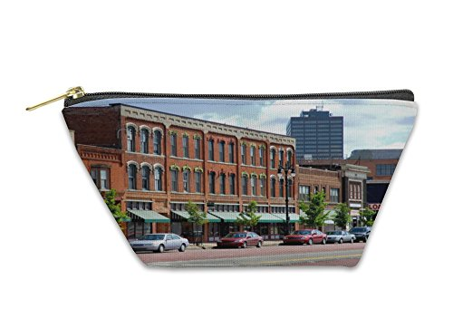 Gear New Accessory Zipper Pouch, Business District Michigan Ave Detroit, Large, - Stores Michigan Ave
