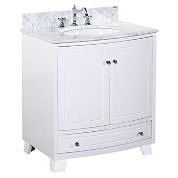 palazzo 30inch bathroom vanity includes an italian carrara