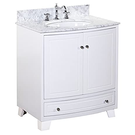 Palazzo 30 Inch Bathroom Vanity (Carrara/White): Includes An Italian Carrara