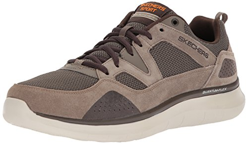 Athletic Oxfords Skechers (Skechers Sport Men's Quantum Flex Country Walker Oxford, Brown, 10 M US)