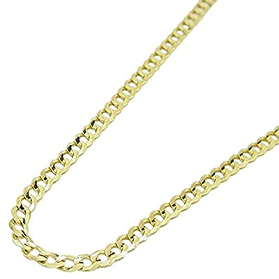 "14k Real Yellow Gold Comfort Cuban Curb Chain 3.6MM Wide Sizes 18"", 20"", 22"", 24"" from RC"