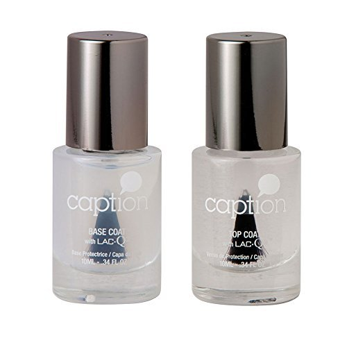 Bundle of Two Items: Caption Nail Polish Base Coat & Gloss T