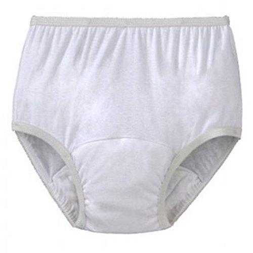 Womens Washable Reusable Incontinence Pantie Brief (Large)