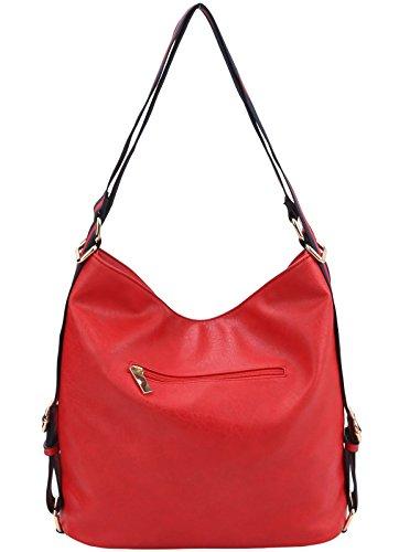 Red Wallet Handbag Republic Stripe New Versatile Hobo Multi Backpack P86xa0q