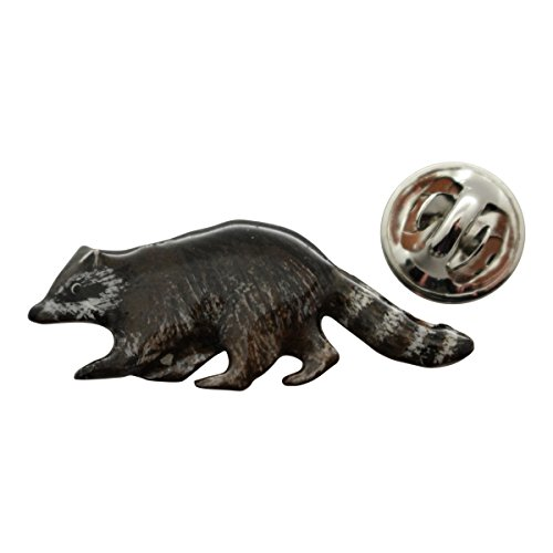 Raccoon Pin ~ Hand Painted ~ Lapel Pin ~ Sarah's Treats for sale  Delivered anywhere in USA