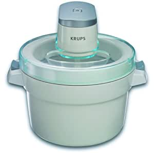 KRUPS GVS142 Automatic Ice Cream Maker White Kitchen Dining