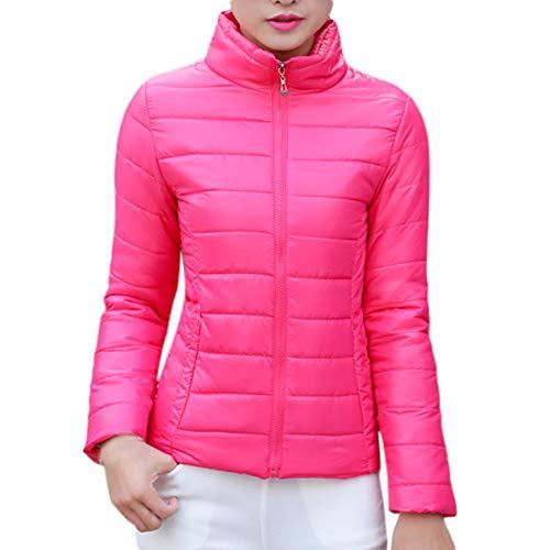 Women's Coat, Womens Warm Coat Stand Collar Jacket Slim Winter Parka Outwear Coats 2018 New (Rose RED, L)