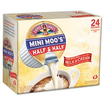 New -Mini Moo's Half & Half, .5 oz, 24/Box - 100981