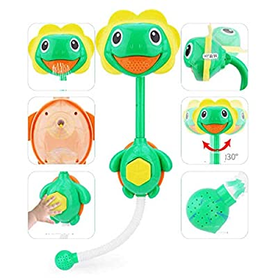 Cloud Shower Children's Bath Toys/Non-Electric/Press Out The Water/Summer Baby Playing in The Bathroom Bath Toys Turtle: Home & Kitchen