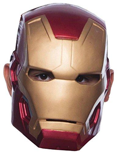 [Avengers 2 Age of Ultron Child's Mark 43 Iron Man Molded 1/2 Mask] (Iron Man Mask For Kids)