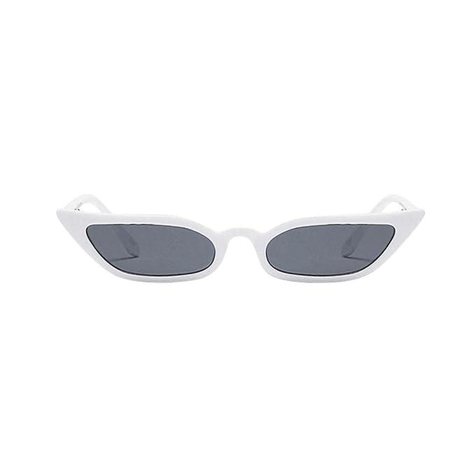 54a51d5696 AIMEE7 Gafas De Sol De Gato De Caja Pequeña Mujeres Vintage Cat Eye  Sunglasses Retro Small ...