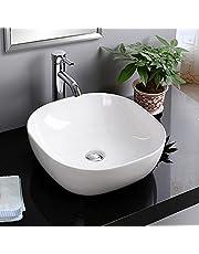 DECORAPORT Above Counter Ceramic Vessel Sink Bowl Bathroom Vanity Sink