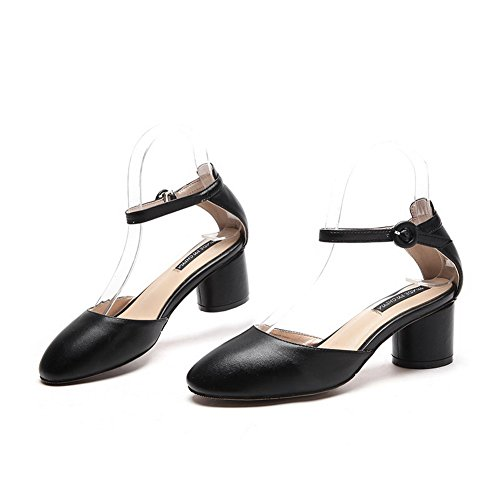 Svart Baguette Mini Brude stil Sandaler Mjs03091 størrelse Uretan 1to9 Kvinners SwzEqzO