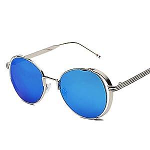 B dressy New Browni sunglasses Men and women hollow reflective sunglasses Fashion sunglasses,Golden frame local gold C3