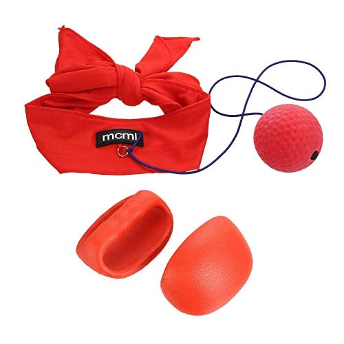 Outzone Headband Punch Gloves, Boxing Reflex Ball on String for Boxing Eye Training, Reactions, Speed and Faster Reflexes - Perfect for Adult and Kids