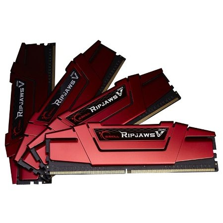 G.SKILL 64GB (4 x 16GB) Ripjaws V Series DDR4 PC4-22400 2800Mhz For Intel Z170 Platform Desktop Memory Model F4-2800C15Q-64GVR