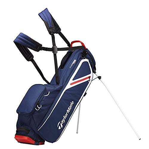 TaylorMade 2019 Flextech Lite Stand Golf Bag, Navy/White/Red