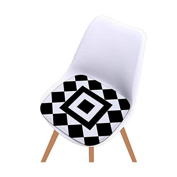 Bledyi, Cuscino Quadrato Antiscivolo per Sedia, per Interni
