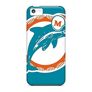 Durable Protector Case Cover With Miami Dolphins Hot Design For Iphone 5c