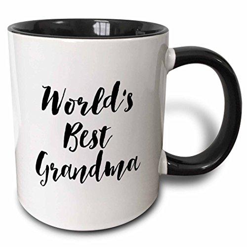 3dRose Phrase Worlds Grandma Black