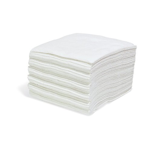 PR100 Disposable Wiping Cloths by New Pig - Extra-Heavy-Duty - 13'' x 13'' - White (300 Wipers) - WIP455
