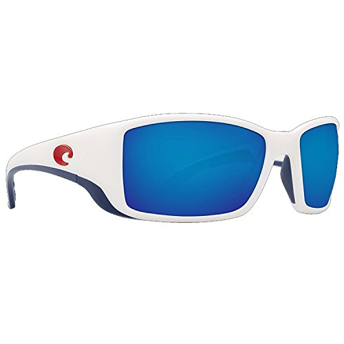 Costa Del Mar BL114OBMGLP Blackfin Sunglass, USA White Blue - Costa Blackfin