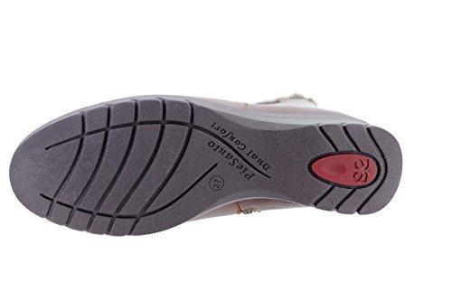 Scarpa In Pelle Piesanto Comfort Donna 175981 Xxl Ampia Gambale Gambale (tan)