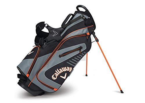 Callaway Golf 2017 Capital Stand Bag, Black/Charcoal/Orange