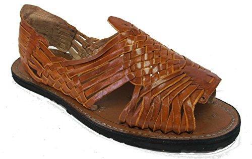 Mens Nye Skinn Myk Vevd Håndlagde Sandaler Flip Flop Slip Huaraches Brune