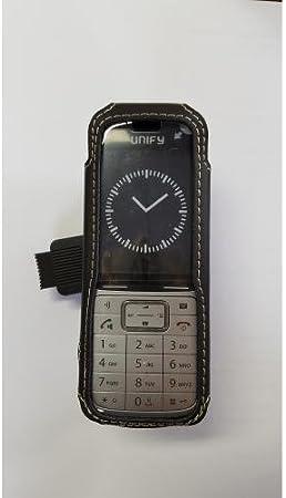 Casyy Ledertasche Für Unify Dect Phone Sl5 Mit Drehclip Elektronik