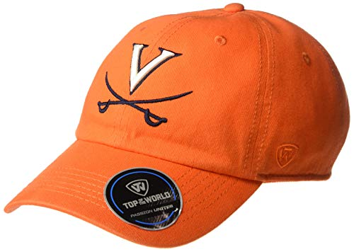 Top of the World Virginia Cavaliers Men's Hat Icon, Orange, Adjustable