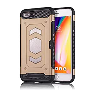 RaG&SaK Water Proof Magnetic Mount armour Case for Iphone 7 & 8 Plus- Gold
