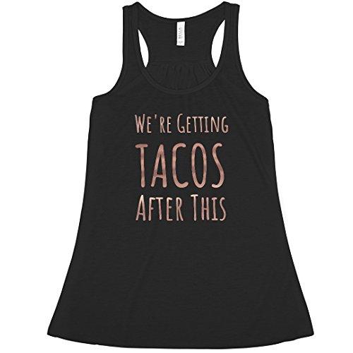(Getting Tacos After Bachelorette: Bella Ladies Flowy Metallic Racerback Tank)