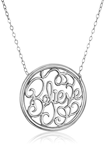 Sterling Silver Believe Monogram Necklace