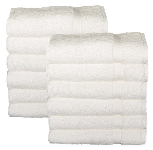 HomeLabels Cotton Salon Towels - Gym Towel Hand Towel - (12-Pack
